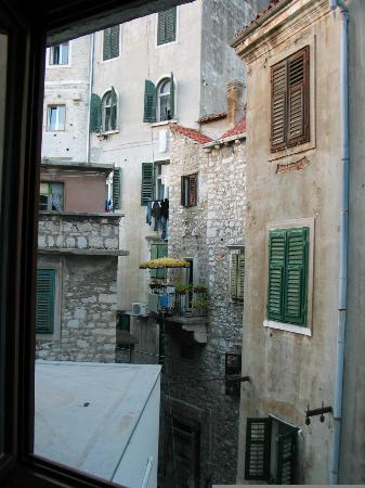 """Hotel Jadran: Charming """"old Europe"""" street scene from my room in the back"""