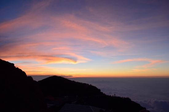 Çubu, Japonya: Sunrise from the Summit.