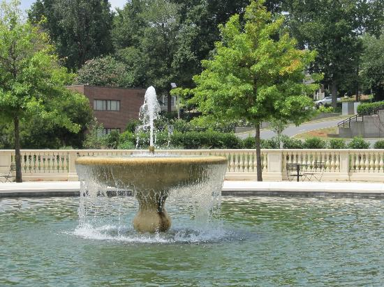 Little Sugar Creek Greenway : Close up of fountain