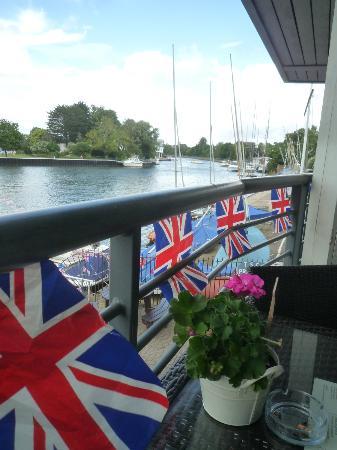 Harts Boatyard : Looking back towards Kingston from the top floor