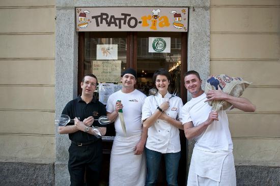 Tratto-ria Mamalicia: Lo staff!!!