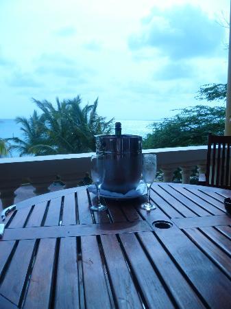 Aruba Surfside Marina: patio view