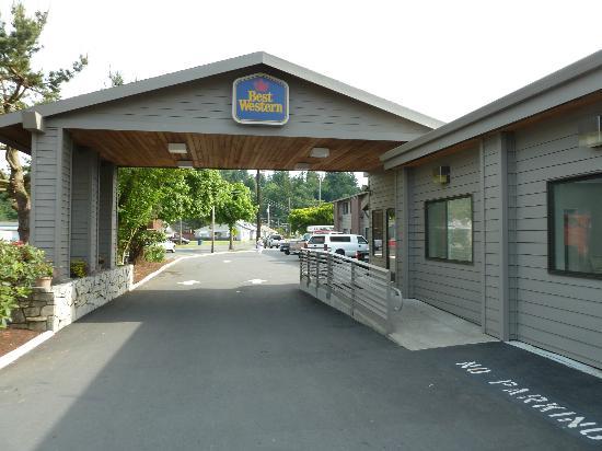 Best Western Aladdin Inn: Hoteleingang BW Kelso