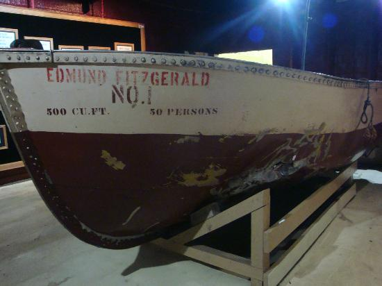 Museum Ship Valley Camp: LIfeboat from the Edmund Fitzgerald