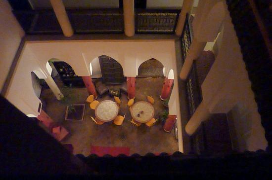 Riad Minorisa: Zona desayuno, vista desde la terraza