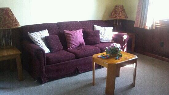 Holiday Cottages: Living room area(pull out sofa bed)