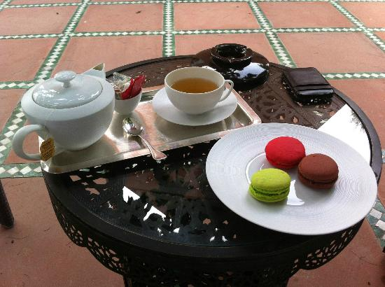 La Mamounia Marrakech: Tea with macaroons