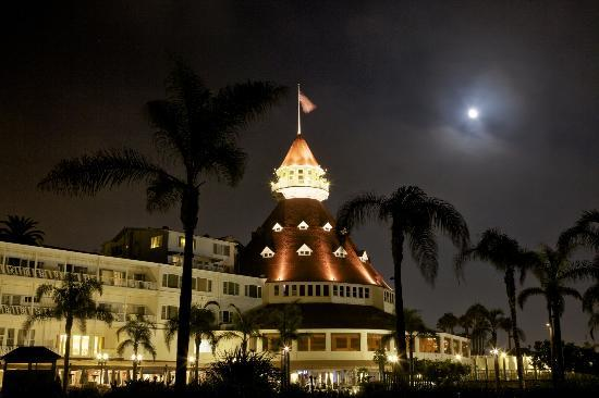 Coronado Island: The Hotel del Coronado by Moonlight