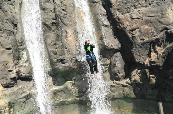 Canyoning Park : chute de toboggan