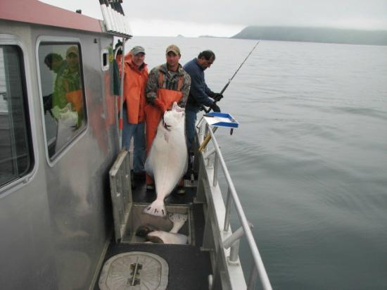 Alaska's Kodiak Island Resort: A 127 pound halibut