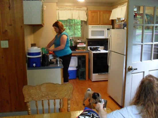 Fair Haven State Park Campground: cabin 35 kitchen