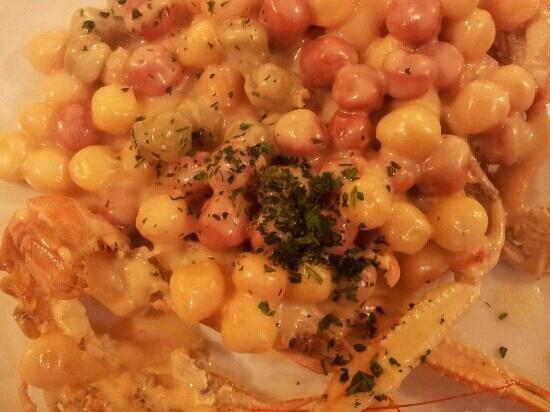 La Cambusa: gnocchetti crema di scampi e limone