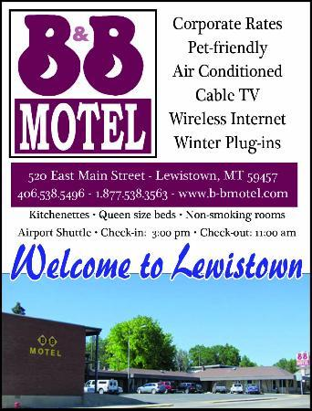 Lewistown, Монтана: Welcome to the B & B Motel