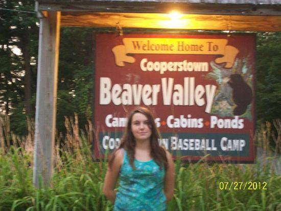Cooperstown Beaver Valley Cabins & Campsites : Campground sign