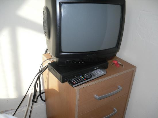 The Belgravia Hotel: replacement t.v (p.s. plug was too short to reach socket)