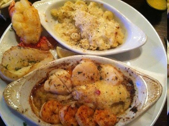Seafood Shanty: broiled seafood dinner( over cooked)