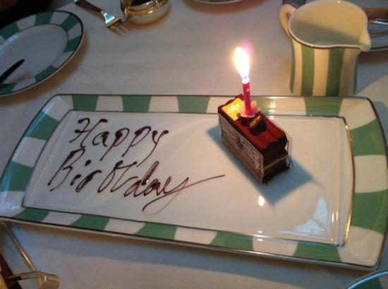 Claridge's: birthday surprise!
