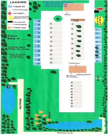 The Great Escape RV & Camp Resort: Campground Map