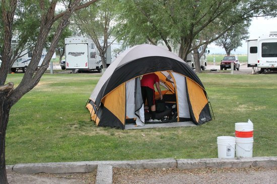 Delta, UT: Campsite: Grass and shade