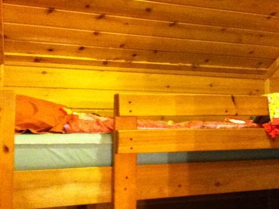 Allentown KOA Campground: top bunk