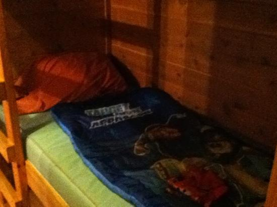Allentown KOA Campground: bottom bunk