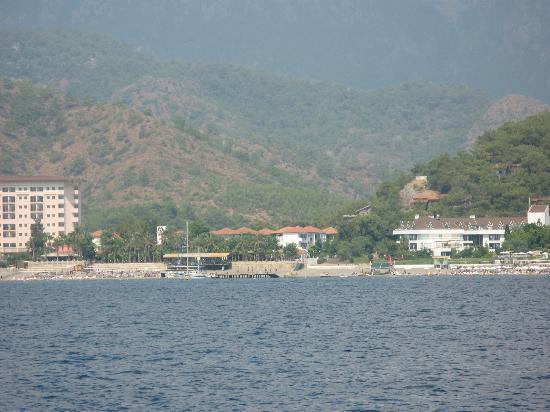 Incekum, Turkey: вид на отель с моря