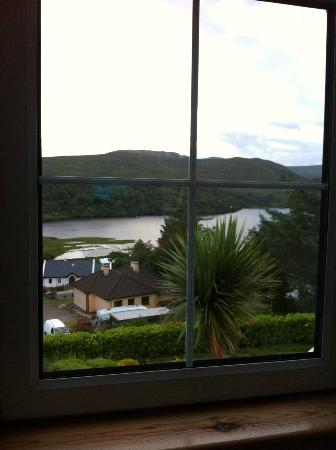 Glen Heights, B&B: views to the lough from our twin room