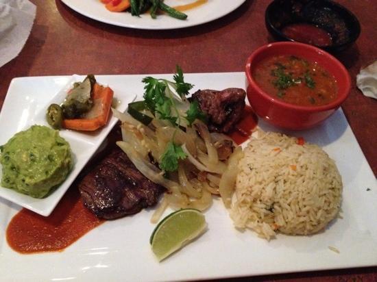 Red Mesa Restaurant: Skirt steak w/ chimichurri sauce