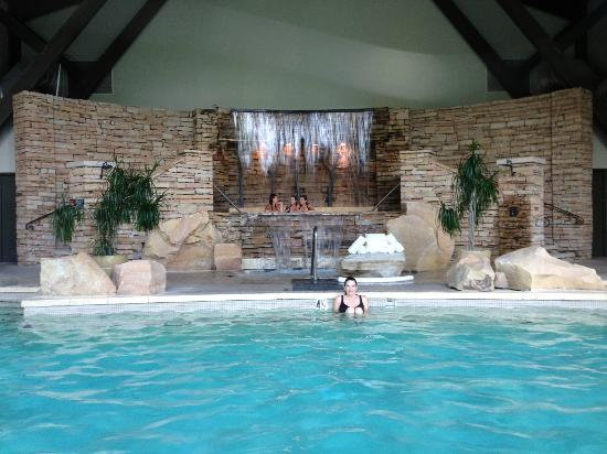 Hot Tub Waterfall Picture Of The Lodge At Woodloch