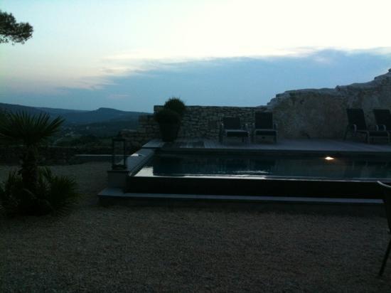 Maison d'hôtes Metafort : joli coucher de soleil à Metafort