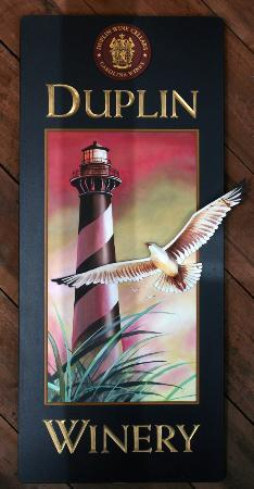 Duplin Winery: Hatteras Lighthouse on Duplin Magnolia Wine Label