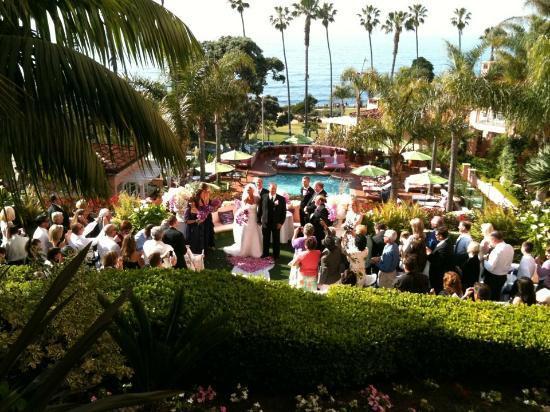 La Valencia Hotel: Ceremony View.