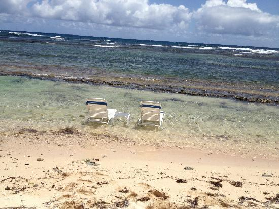 The Palms at Pelican Cove: chairs in the water