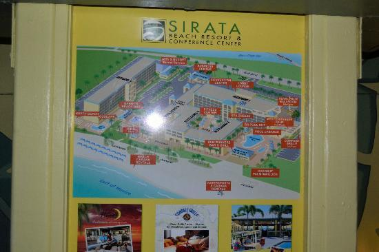 Sirata Beach Resort Hotel Map
