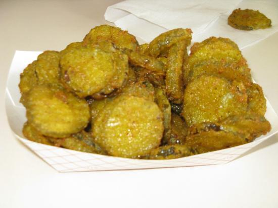 Peaches Corner: Deep fried pickles