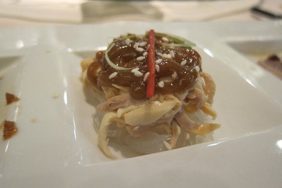 Ming Court: Shredded Chicken with Jelly with Sesame Sauce - Cold Appetizer
