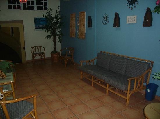 Parador Boquemar: areas de descanso