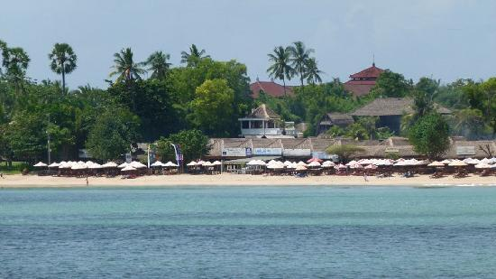 Jimbaran Bay Beach Residence: The White House seen from the sea