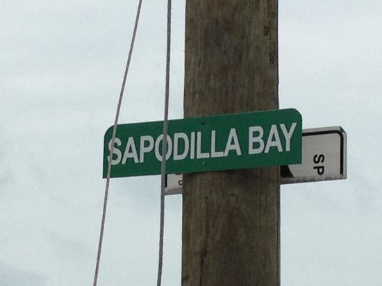 Sapodilla Bay: sign