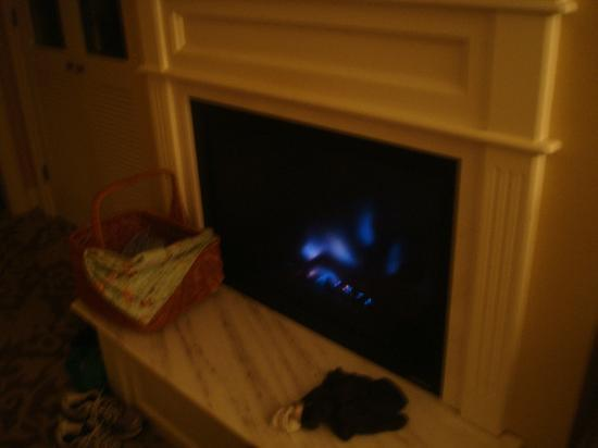 Hotel del Coronado: Instant on fireplace