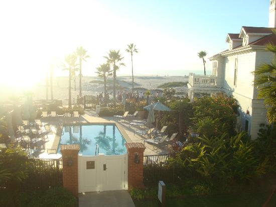 Hotel del Coronado: View from balcony, sunset views