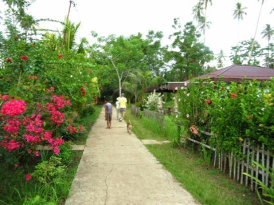 ‪‪Bunaken Cha Cha Nature Resort‬: walk to the village‬