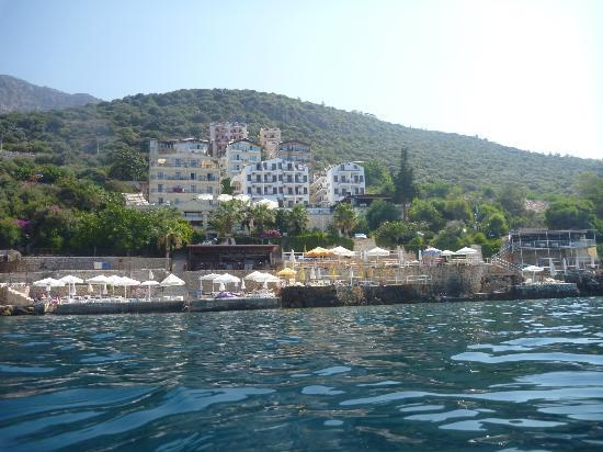 Cappari Hotels Aqua Princess Hotel: View from see