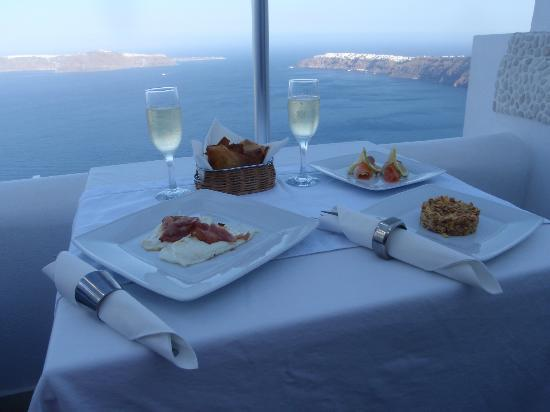 Above Blue Suites: This is breakfast from our Golden Echo Suite
