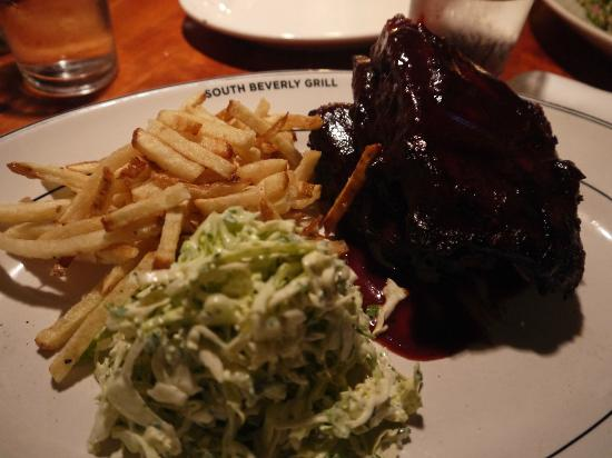 South Beverly Grill BBQ ribs.