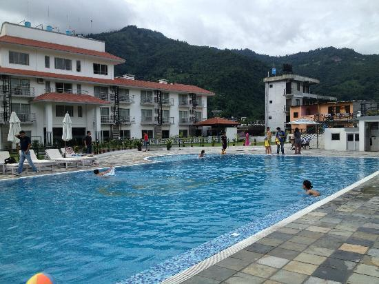 Pool Area Picture Of Waterfront Resort Hotel Pokhara Tripadvisor