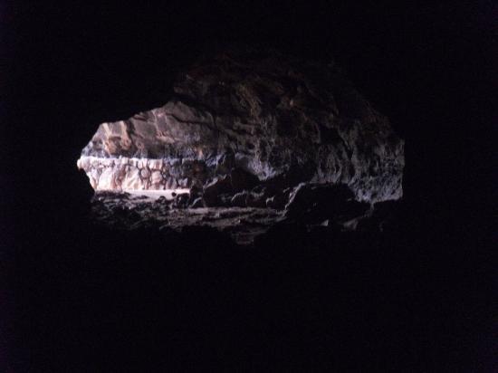 Cueva del Llano: l'ingresso visto dall'interno