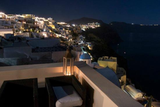 Lucky Homes - Oia: Panorama sinistro del balcone Perfect Hideaway Studio