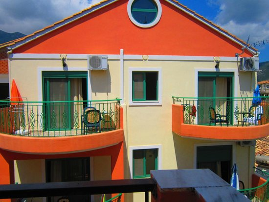 Christos Studios: View from terrace of room 3