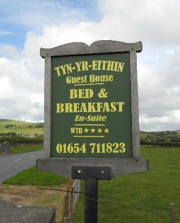 Tyn-Yr-Eithin Bed and Breakfast : The entrance
